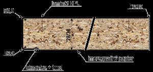profil kuchynskej dosky E,Q jednostranný